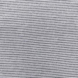 Tissu jogging petite Marinière - marine x 10cm
