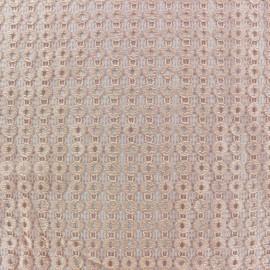 Tissu Lycra ajouré Circle - pèche x 10cm
