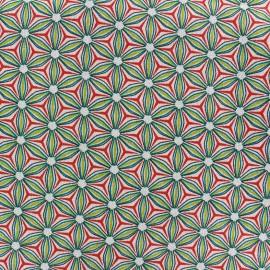 Tissu toile lin viscose Anémone - vert x 10cm