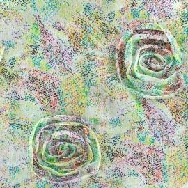 Tissu mousseline Rosane - anis x 50 cm
