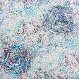 Tissu mousseline Rosane - bleu x 50 cm