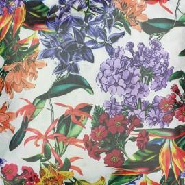 Tissu mousseline garden - blanc x 20 cm