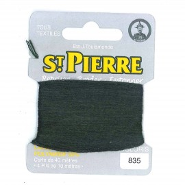 Laine Saint Pierre 40 M card Darning / embroidery - 835 Bottle green