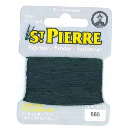 Laine Saint Pierre 40 M card Darning / embroidery - 885 Ivy green