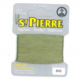 Laine Saint Pierre 40 M card Darning / embroidery - 845 Fern