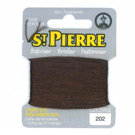Laine Saint Pierre 40 M card Darning / embroidery - 202 Cigar