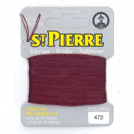 Laine Saint Pierre 40 M card Darning / embroidery - 472 Purple