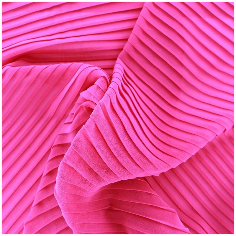 tissu cr pe l ger pliss fuchsia x 50cm ma petite mercerie. Black Bedroom Furniture Sets. Home Design Ideas