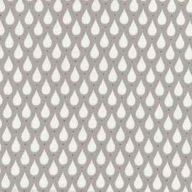Coated cotton fabric Teardrops - Toffee  x 10cm
