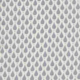 Coated cotton fabric Teardrops - Dusty Blue  x 10cm