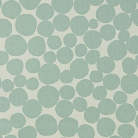 Varnished and coated cotton fabric Fizz - smoke  x 10cm