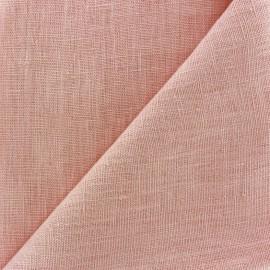 Tissu lin lavé Thevenon - rose poudré x 10cm
