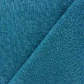 Tissu lin lavé Thevenon - bleu canard x 10cm