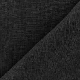Tissu lin lavé Thevenon - noir x 10cm