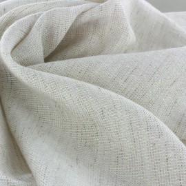 Iridescent light linen viscose fabric x 10cm