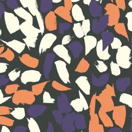 Cotton fabric Atelier brunette Cosmic Chestnut x 10cm
