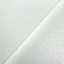 Simili cuir Autruche - blanc x 10cm