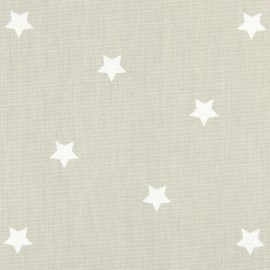 Varnished and coated cotton fabric Twinkle - oatmeal  x 10cm