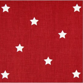 Varnished and coated cotton fabric Twinkle - cardinal  x 10cm