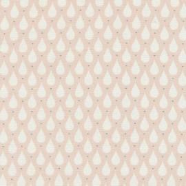 Coated cotton fabric Teardrops - Soft rose  x 10cm