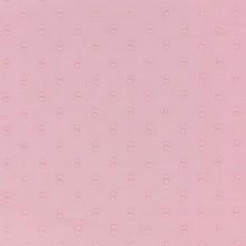 Tissu plumetis France Duval - rose x 10cm