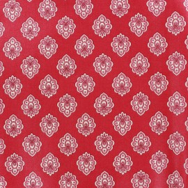 Coated cotton fabric Regalido Mouche - raspberry x 10cm