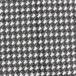 Jacquard fabric Boston - anthracite x 10cm