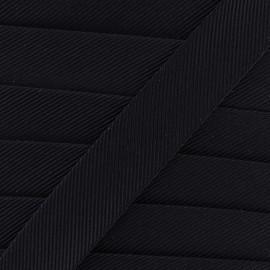 Gros grain aspect bias - navy x 1m