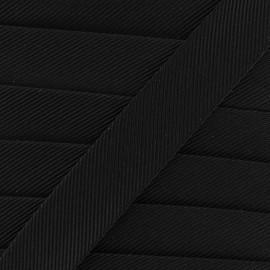 Gros grain aspect bias - black x 1m