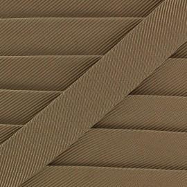 Gros grain aspect bias - golden brown x 1m