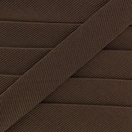 Gros grain aspect bias - brown x 1m