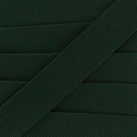Gros grain aspect bias - dark green x 1m