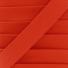 Gros grain aspect bias - orange x 1m