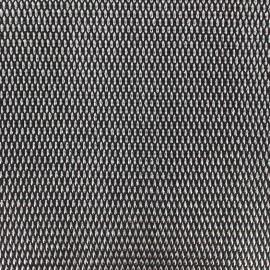 Simili cuir Fusion - noir/argent x 10cm