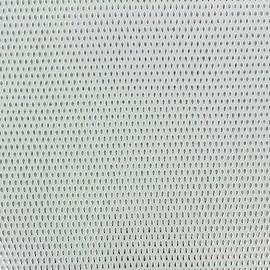 Simili cuir Fusion - blanc/argent x 10cm
