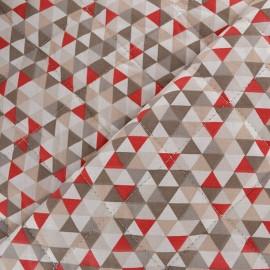 Tissu matelassé Trimix taupe/beige x 10cm
