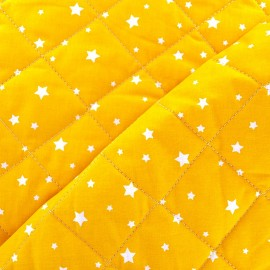 Tissu matelassé Scarlet jaune x 10cm