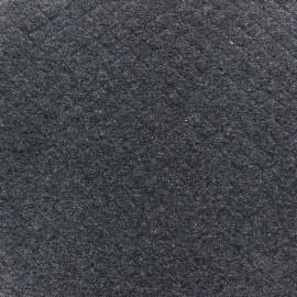 Tissu jersey matelassé losanges 10/20 - bleu denim chiné x 10cm