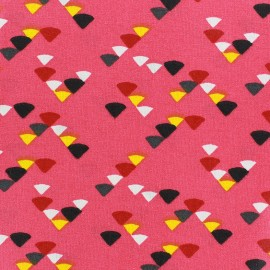 Coated cotton fabric Triangle - grenadine x 10cm