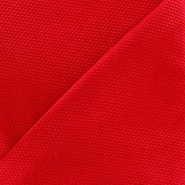 Tissu piqué de coton satiné - rouge x 10cm