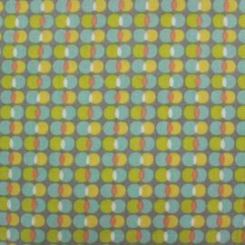 Cotton fabric Pozzi - multi x 10cm