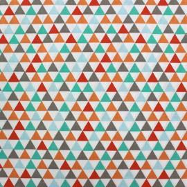 Cotton fabric Isuzu - light blue/red x 10cm