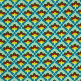 Coated cotton fabric Poppy Mango Bango Litchi - blue x 10cm