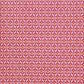 Coated cotton fabric Poppy Mango Bango Wasabi - pink x 10cm
