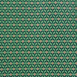 Coated cotton fabric Poppy Mango Bango Wasabi - green x 10cm