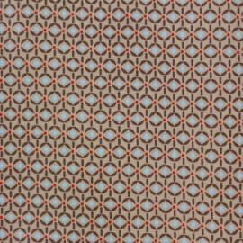 Coated cotton fabric Poppy Mango Bango Wasabi - light brown x 10cm