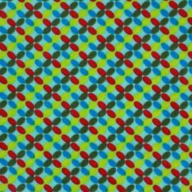 Coated cotton fabric Poppy Mango Bango Kiwi - green x 10cm