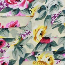 Bias binding Blossom - cream x 1m