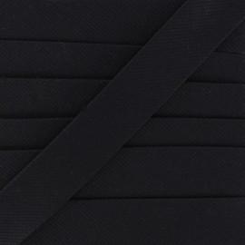 Plain stitched Bias binding - black