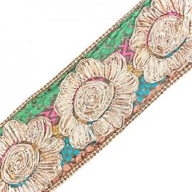 Guipure Ajourée India Fleur Goa x 20cm